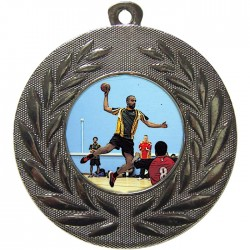 Silver Handball Medal 50mm