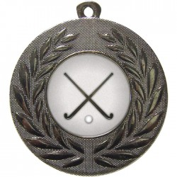 Silver Hockey Medal 50mm