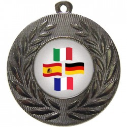 Silver Languages Medal 50mm