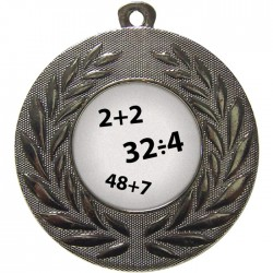 Silver Maths Medal 50mm