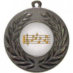 Silver Music Medal 50mm