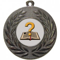 Silver Quiz Medal 50mm