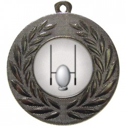 Silver Rugby Medal 50mm
