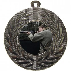 Silver Clay Pigeon Shooting Medal 50mm