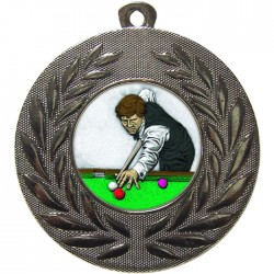 Silver Snooker Medal 50mm