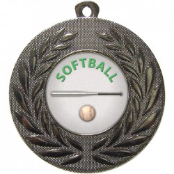 Silver Softball Medal 50mm