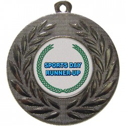 Silver Sports Day Runner Up Medal 50mm
