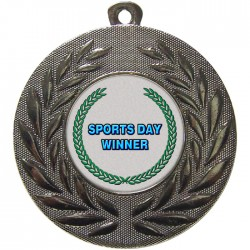 Silver Sports Day Winner Medal 50mm