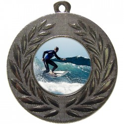 Silver Surfing Medal 50mm