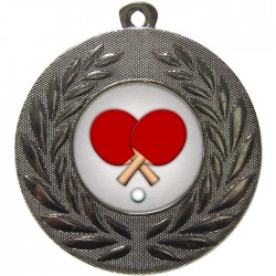 Silver Table Tennis Medal 50mm