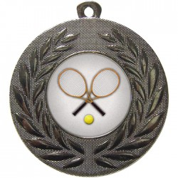 Silver Tennis Medal 50mm