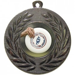 Silver Frisbee Medal 50mm