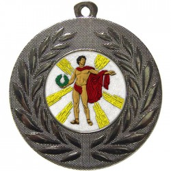 Silver Victory Male Medal 50mm