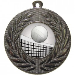 Silver Volleyball Medal 50mm