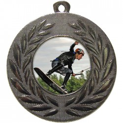 Silver Wake Boarding Medal 50mm