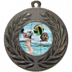 Silver Water Polo Medal 50mm