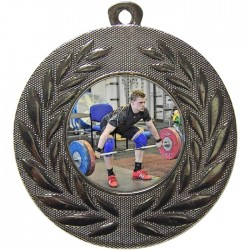 Silver Weightlifting Medal 50mm