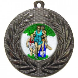 Silver Cross Country Medal 50mm