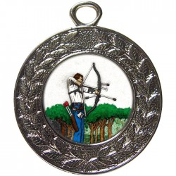 Silver Archery Medal 45mm