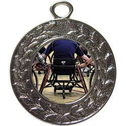 Silver Wheelchair Basketball Medal 45mm