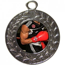 Silver Boxing Medal 45mm