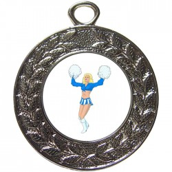 Silver Cheerleader Medal 45mm