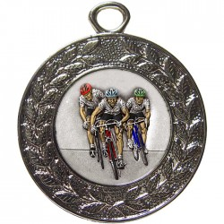 Silver Cycling Medal 45mm