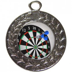 Silver Darts Medal 45mm
