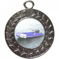 Silver Rubber Dinghy Medal 45mm