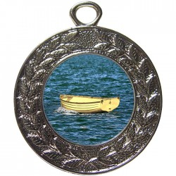 Silver Wooden Dinghy Medal 45mm