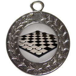 Silver Draughts Medal 45mm