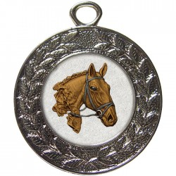 Silver Equestrian Medal 45mm