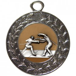 Silver Fencing Medal 45mm
