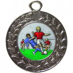 Silver Male Football Medal 45mm