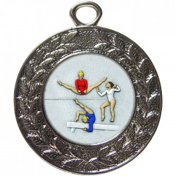 Silver Female Gymnastics Medal 45mm