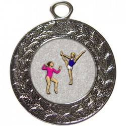 Silver Gymnastics Floor Medal 45mm