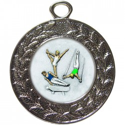 Silver Male Gymnastics Medal 45mm