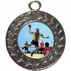Silver Handball Medal 45mm