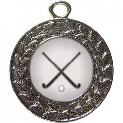Silver Hockey Medal 45mm