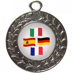 Silver Languages Medal 45mm