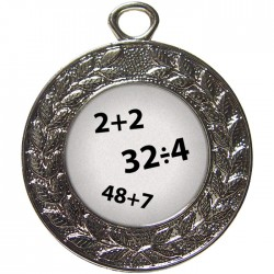 Silver Maths Medal 45mm