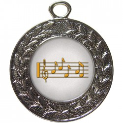 Silver Music Medal 45mm