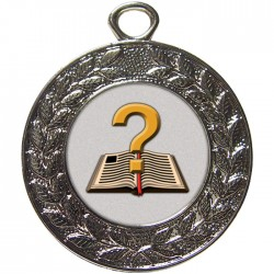 Silver Quiz Medal 45mm