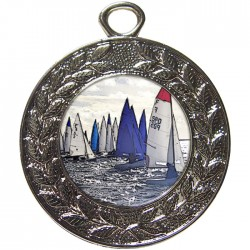 Silver Sailing Medal 45mm