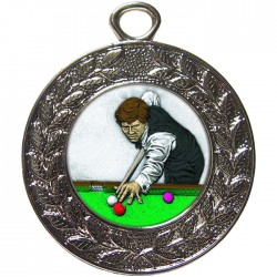Silver Snooker Medal 45mm