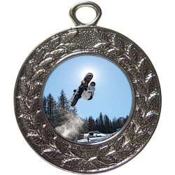 Silver Snowboarding Medal 45mm