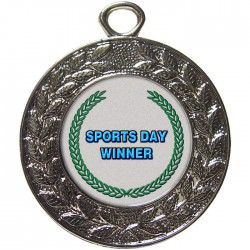 Silver Sports Day Winner Medal 45mm