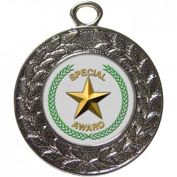 Silver Special Star Medal 45mm