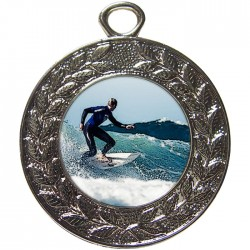 Silver Surfing Medal 45mm