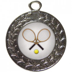 Silver Tennis Medal 45mm